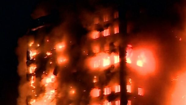 VIDEO: Deadly fire engulfs London apartment building