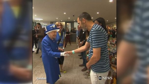 Queen Elizabeth II and Prince William meet with residents who survived the deadly high-rise fire in London.