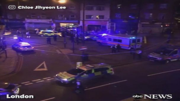 VIDEO: London police investigating incident of collision with pedestrians