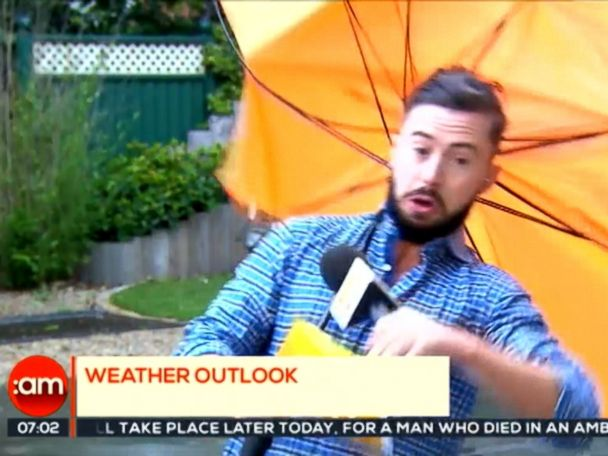 WATCH:  Irish weather reporter hit by a blast from Mother Nature