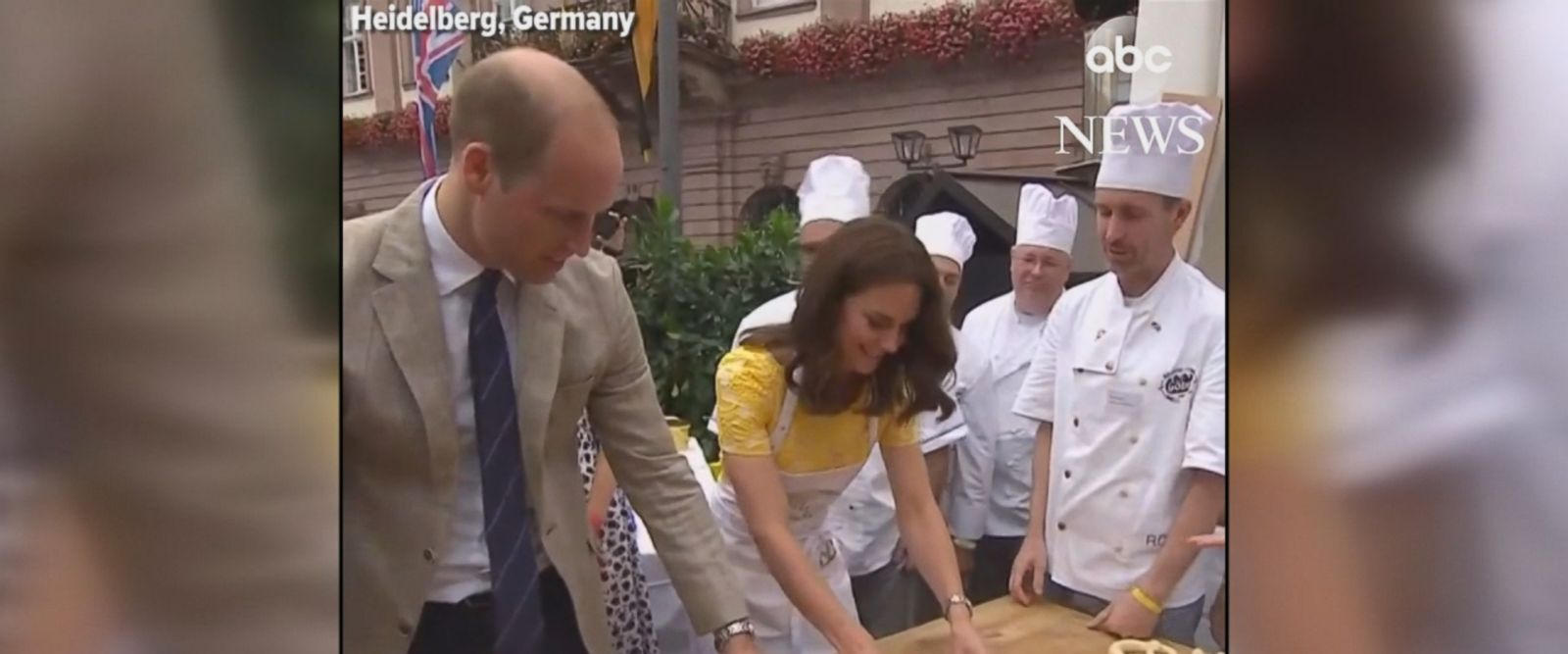 Prince William and Princess Kate learned to make pretzels alongside locals in Heidelberg, Germany during their royal tour.