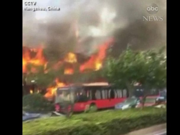 WATCH:  Suspected deadly gas explosion at food shop in China