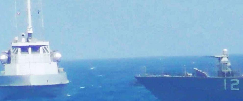 VIDEO: US Navy ship fires warning shots at Iranian vessel in Persian Gulf