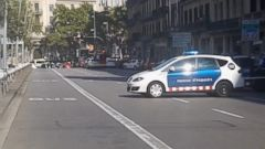 A truck hit pedestrians on Catalunya Square in Barcelonas Las Ramblas district this afternoon.