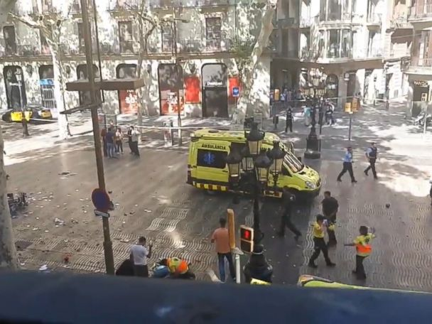 WATCH:  Eyewitness describes chaotic scene after Barcelona attack