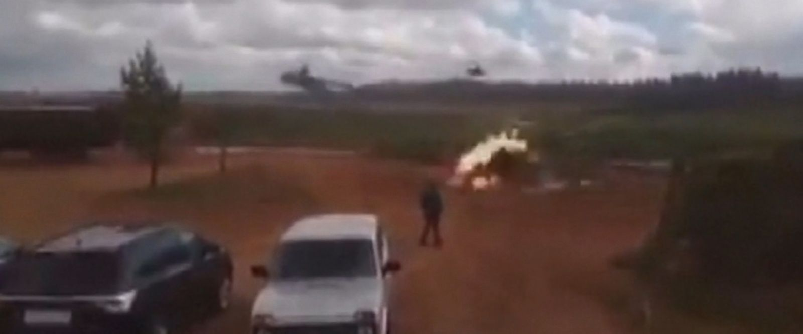 VIDEO: Russia's big Zapad 2017 military exercises entered the news again on Tuesday after a video emerged appearing to show a Russian attack helicopter firing rockets into a group of bystanders.