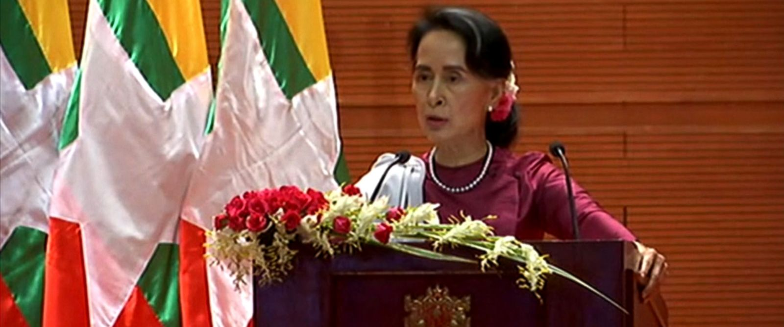 "VIDEO: Aung San Suu Kyi said ""a great majority of Muslims"" have not fled Myanmar for Bangladesh."
