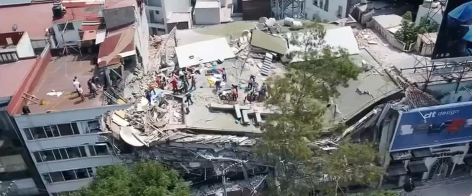 The earthquake caused extensive damage to Mexico City.