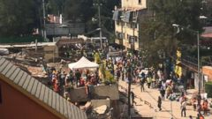 VIDEO: Rescue efforts underway at school in Mexico after earthquake