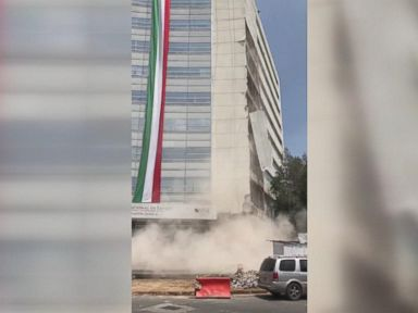 WATCH:  Video shows high-rise wall collapse in Mexico City