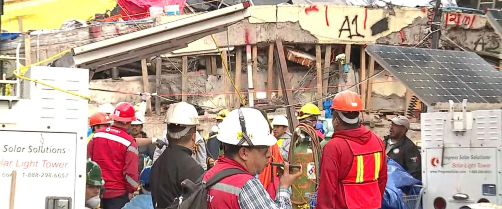 VIDEO: Rescue efforts resume for any survivors of collapsed school in Mexico
