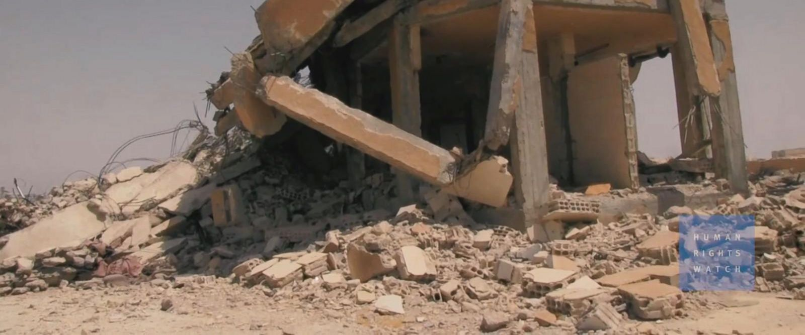 VIDEO: New video shows destruction near Raqqa after coalition strikes