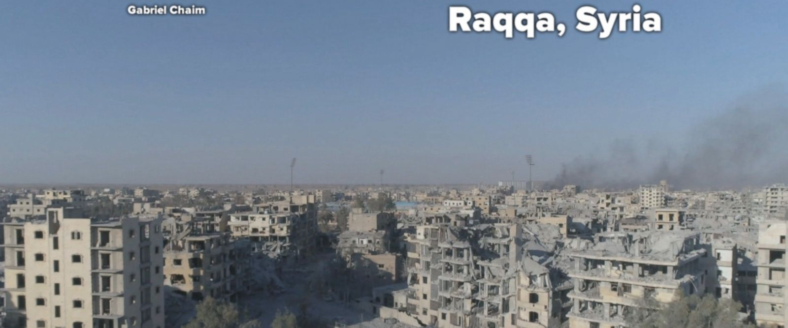 Raqqa, Syria, has suffered massive destruction since the militants took over in 2014.