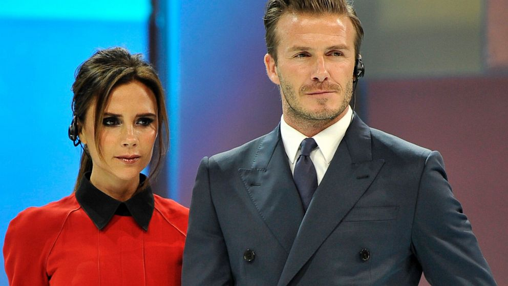 PHOTO: David Beckham and Victoria Beckham attend China Central Television show on June 23, 2013 in Beijing, China.