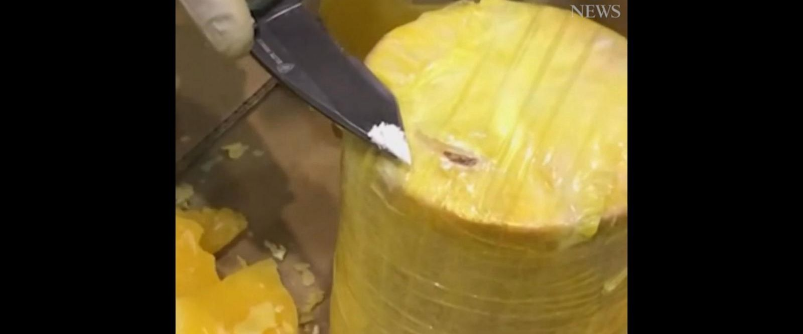 VIDEO: Police seize cocaine found hidden in pineapples