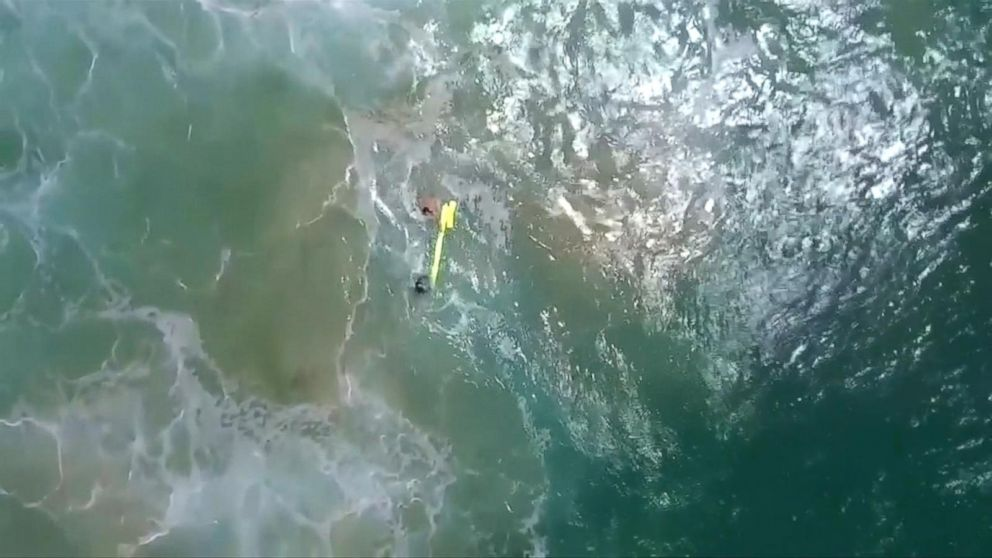 Drone helps rescue 2 swimmers caught in Australian  riptide
