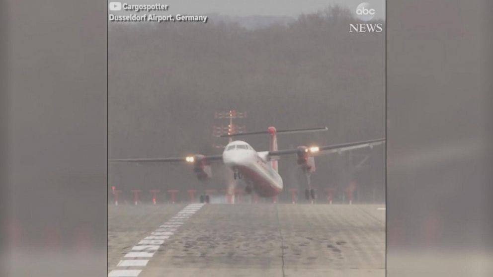 Strong crosswinds cause scary landings in Germany