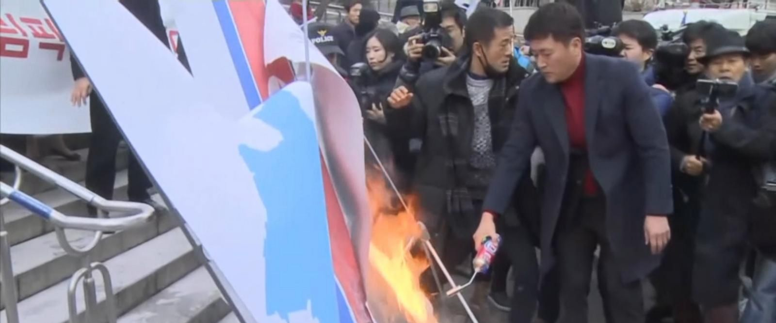 VIDEO: Protests show mixed response in South Korea to plan for Olympians from the North and South to march together and field a joint hockey team.