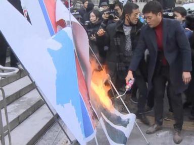 WATCH:  Protests meet N. Korean delegation in Seoul ahead of Winter Olympics