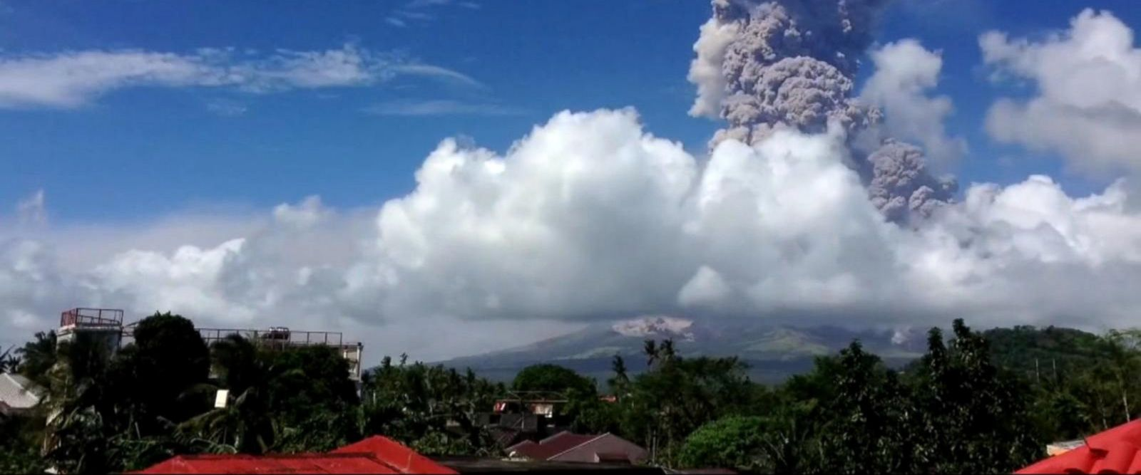 VIDEO: Lava from the Mayon volcano shot more than 1,600 feet above the crater.