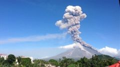 VIDEO: The Mayon volcano in the Philippines erupted on Tuesday, releasing lava and ash upon a town of 56,000 villagers, according to the Associated Press.