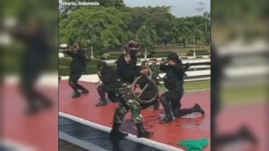 'VIDEO:  Indonesian soldiers show off snake-handling skills for Mattis' from the web at 'http://a.abcnews.com/images/International/180124_abc_indonesia_16x9_384.jpg'
