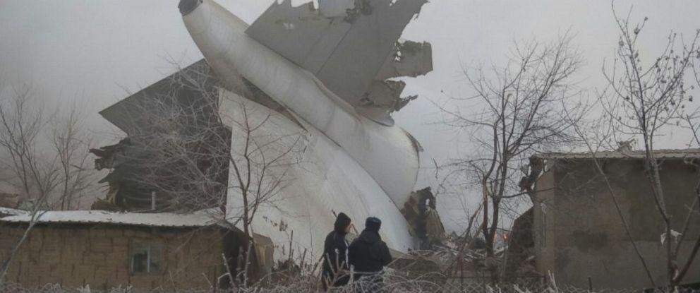 PHOTO: Debris from a Turkish cargo plane crashed near Bishkek, Kyrgyzstan, Jan. 16, 2017.