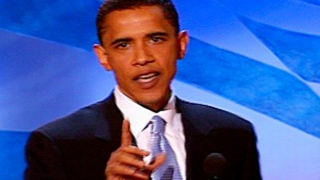 VIDEO: Obama delivers the keynote address at the 2004 Democratic National Convention.