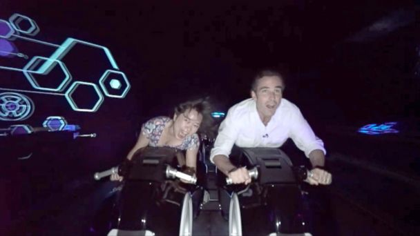 PHOTO: Experience the high-speed roller coaster at the new Disney theme park in China.