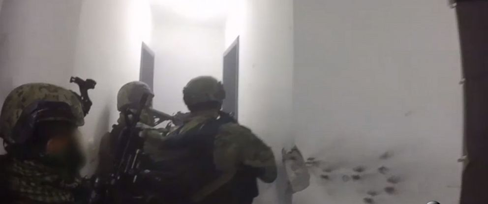 PHOTO: GoPro footage of the raid that captured El Chapo, the drug kingpin was captured following his escape from a Mexican prison in July 2015.
