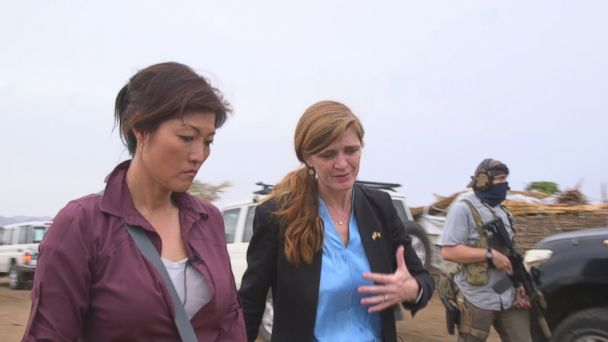 PHOTO: ABC News' Juju Chang travelled with Samantha Power, United States Ambassador to the United Nations, through three African countries.