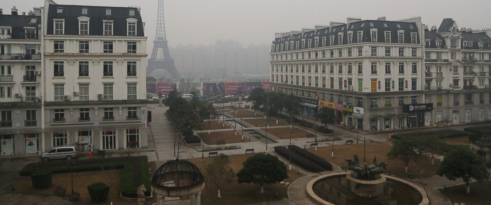 ABC News VR Virtual Reality News Stories ABC News - Tianducheng a ghostly abandoned clone of paris in the middle of china