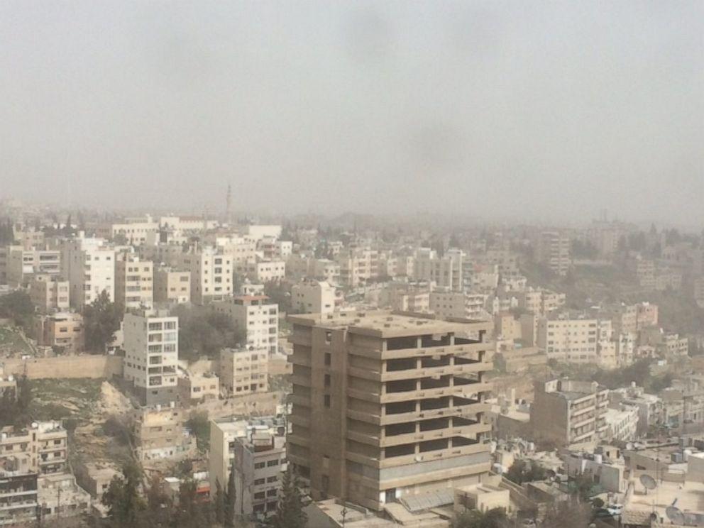 PHOTO: A sandstorm can be seen from Amman, Jordan, Feb. 11, 2015.