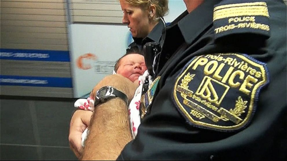 PHOTO: A group of friends helped reunite parents in Quebec with their new baby after she was snatched from maternity ward.