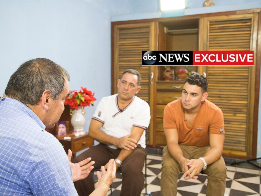 PHOTO: ABCs Jim Avila speaks with Elian Gonzalez and his father Juan Miguel in an exclusive interview in 2015.