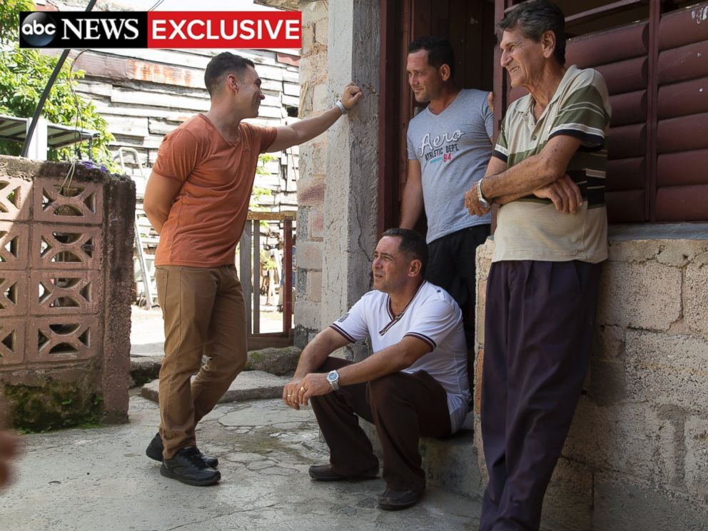 PHOTO: Elian Gonzalez with his father, grandfather and uncle at his birth home.