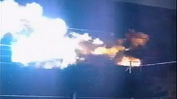 ABC fireball jt 131103 16x9 608 Fireball on Suburban Power Lines Caught on Tape