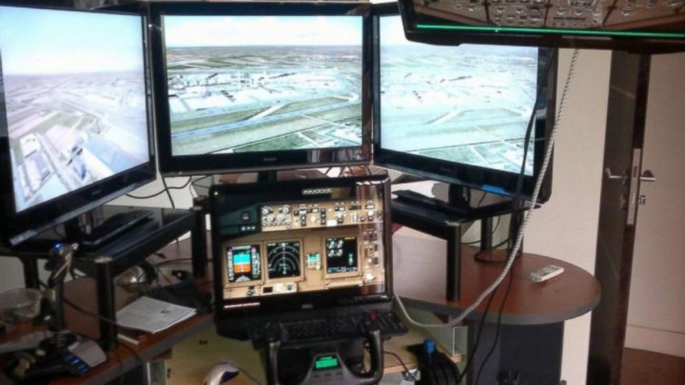 PHOTO: Zaharie Ahmad Shahs flight simulator is pictured.