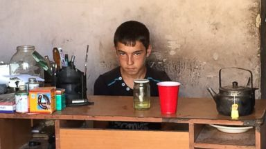 PHOTO: 12-year-old Rami is from Syria. He and his parents fled when he was in 6th grade. He has missed nearly two years of school. He hopes to go back home and back to school one day.