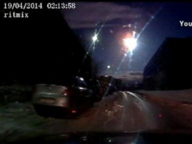 PHOTO: Dashcam video of apparent meteor streaking through the sky over Russia.