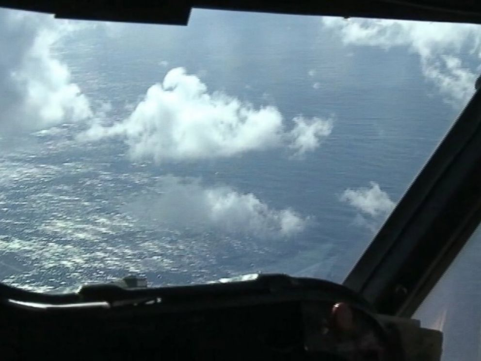 PHOTO: ABC News traveled with a Navy P3 Orion plane searching 54,000 square nautical miles of the Indian Ocean west of Indonesia today looking for the missing Malaysia Airlines flight MH370.