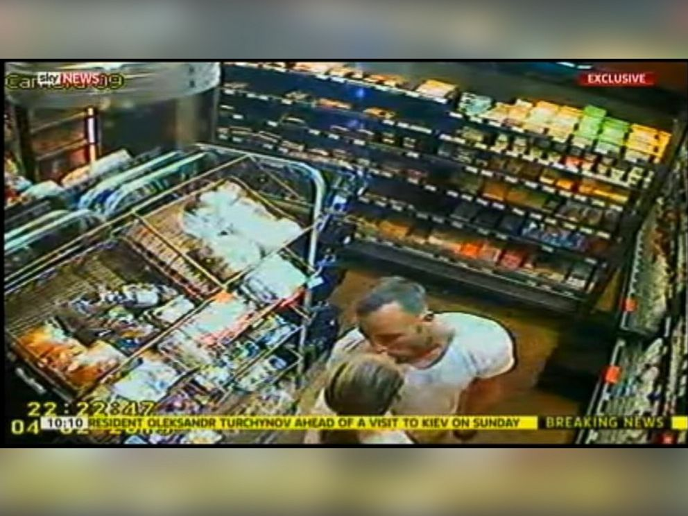 PHOTO: This image from Sky News shows Oscar Pistorius and Reeva Steenkamp in a store.
