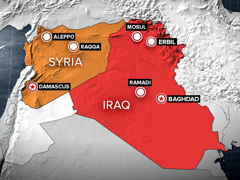 PHOTO: Iraq Syria Map - ABC News
