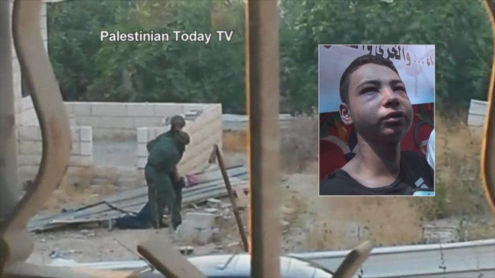 PHOTO: Tariq Abu Khdeir, 15, a U.S. citizen who goes to school in Florida, is shown being beaten by Israeli soldiers in this image taken from video, prior to his arrest in the Shuafat neighborhood of Jerusalem.