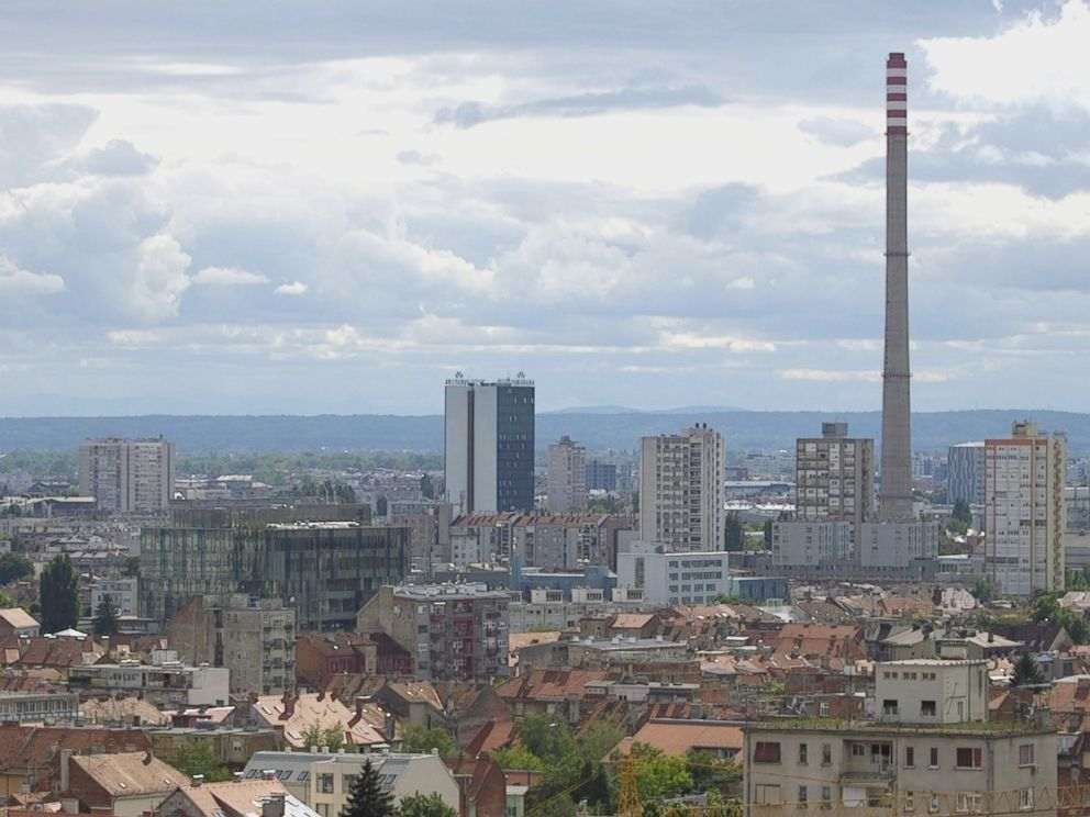 PHOTO: A view of the industrial zone of Zagreb, Croatia where Dalibor Talajic works.