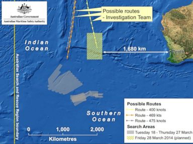 Search Area for Flight 370 Shifted Nearly 700 Miles