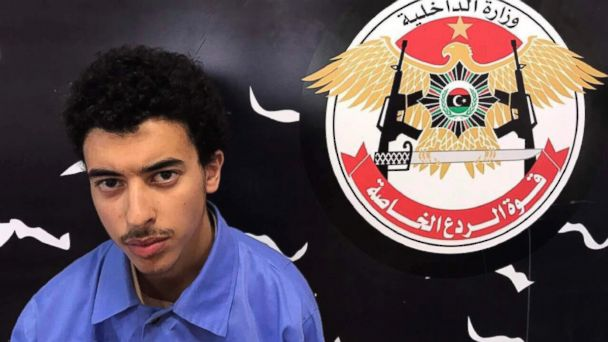 Hashim Ramadan Abedi appears inside the Tripoli-based Special Deterrent anti-terrorism force unit after his arrest on May 24,2017 for alleged links to the Islamic State extremist group.