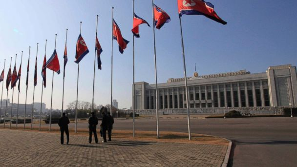 PHOTO: In this Nov. 29, 2016, file photo, Mansudae Assembly Hall, where North Korea's legislature and the Supreme People's Assembly meet is seen in Pyongyang.