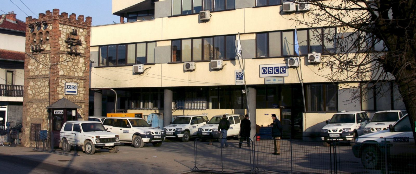 PHOTO: The exterior of the Kosovar headquarters of the OSCE in the city of Prizen, as seen on Dec. 14, 2006.