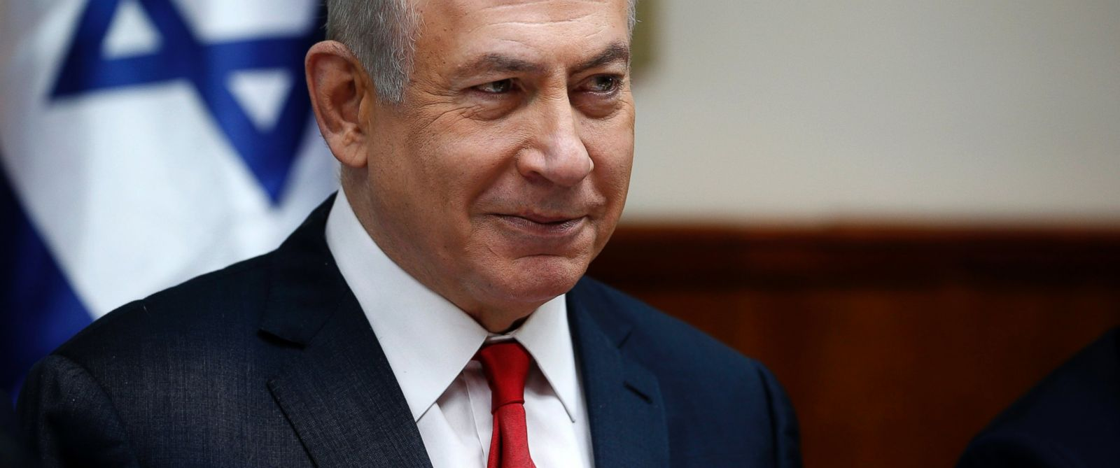 PHOTO: Israeli Prime Minister Benjamin Netanyahu attends the weekly cabinet meeting in Jerusalem, Jan. 22, 2017.